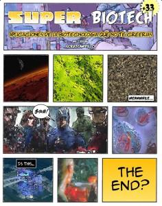 Dibujos originales del autor para anunciar una charla suya sobre Biotecnología.