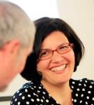 Isabel Fuentes durante la presentación de su libro en la Fundación Diario Madrid.