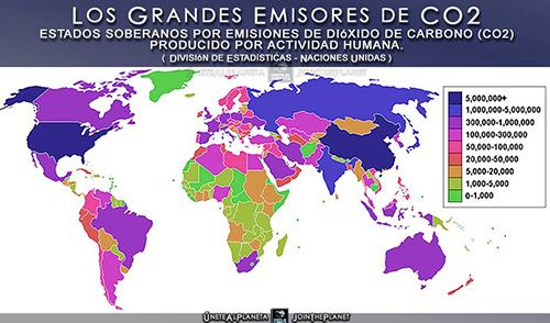 Países que emiten más gases del efecto invernadero.