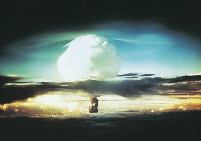 Explosión de una bomba atómica.