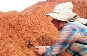 En la búsqueda de extremófilos, los investigadores también ha colectado muestras de suelo en el Desierto de la Tatacoa, en el Huila. (Foto cortesía: María Angélica Leal)