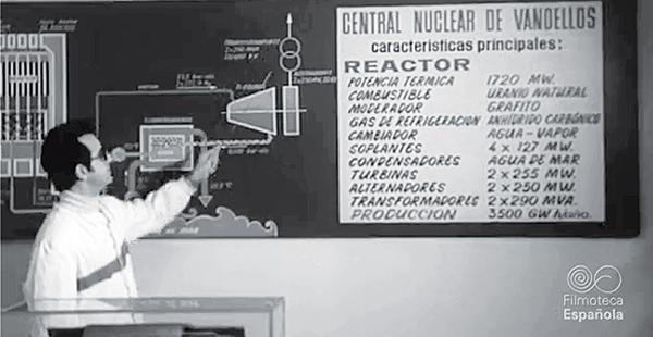 La Central Nuclear de Vandellós I se conectó a la red eléctrica en Marzo de 1972.