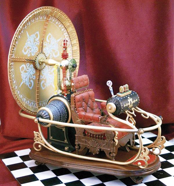 Recreación de la 'Máquina del Tiempo', de H.G. Wells.