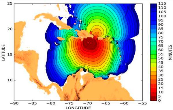 Evaluación del riesgo de tsunami en República Dominicana. Imagen: IGME.