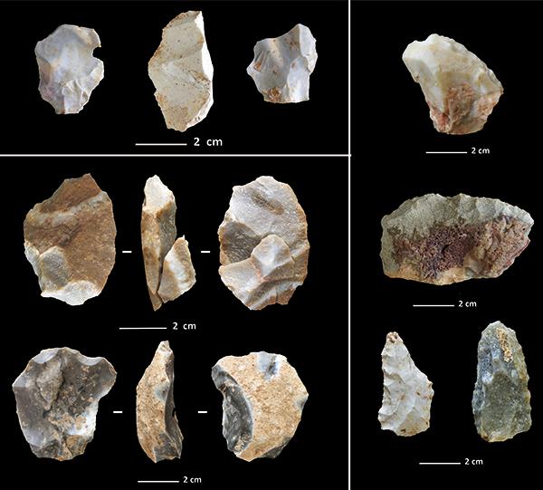 Industria lítica musteriense del nivel III de la Cova de les Teixoneres.