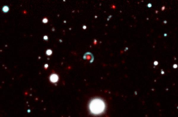 Foto portada: Imagen del anillo de Einstein Canarias./Observatorio Tololo de Chile.