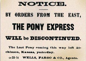 """Último pasquín del """"Pony Express""""."""