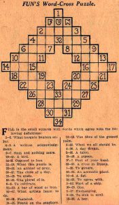 El primer crucigrama.