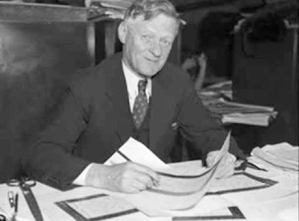 Arthur Wynne, inventor del crucigrama.