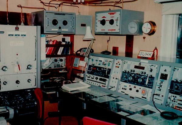 Estación de radio típica de un mercante (años ochenta del pasado siglo).