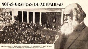 Foto portada: Un ejemplo de la repercusión del homenaje valenciano a Darwin en la prensa del momento.