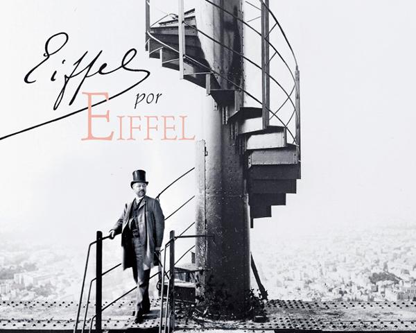Un descendiente de Eiffel hizo en un libro el retrato de su tatarabuelo y de la torre.
