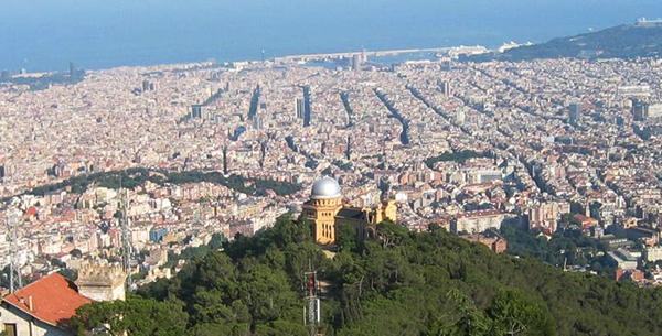 El Observatorio Fabra, con Barcelona a sus pies.